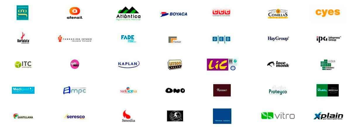 Logotipos de clientes Uno Más Dos